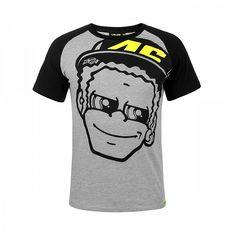 Valentino Rossi Moto GP The Doctor Grey T-shirt Official 2018 Valentino Rossi, Team T Shirts, Tee Shirts, Yamaha T Shirt, Kids Motorcycle, Vr46, Yellow T Shirt, Sportswear, Mens Tops
