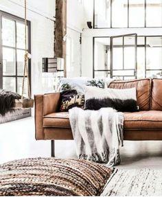 High windows light classic furnishing and interior