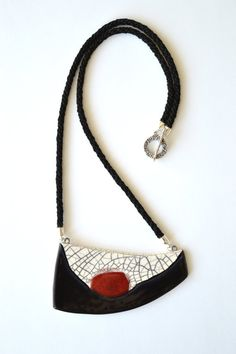 Ceramic statement necklace handmade contemporary by islaclay