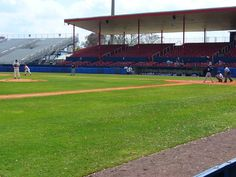 The first pitch of RussMatt 2012 thrown at the Chain of Lakes Park in Winter Haven, Florida. #college #baseball #springbreak #CentralFLSports