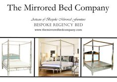 A right royal REGENCY MIRRORED BED made by The Mirrored Bed Company. Beds built around your dreams... contact us now to help us make yours!