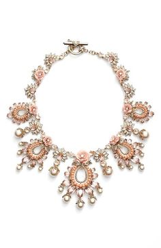 Marchesa 'Drama' Floral Crystal Collar Necklace available at #Nordstrom