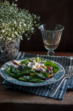 Avocado, orange and red cabbage salad | Gourmantine