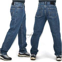 87961bf5 straight fit urban hip hop star loose Mens Georgio Peviani jeans black g  denim