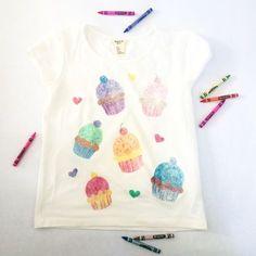 wax crayon sandpaper transfers to t-shirts