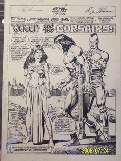 Conan #88 Pg 1 Splash Comic Art