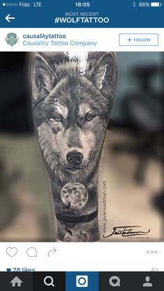 Wicked wolf tattoo I found on Instagram