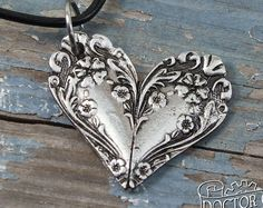 Spoon Butterfly Pendant – Inspired by Antique Victorian Silverware – Hand Cast Necklace – Doctorgus Ornate Spoon Heart Necklace – Flowery Pendant – Inspired by Antique Victorian Silverware – Doctorgus Handmade Pewter Jewelry – Cute Boho Jewelry Crafts, Jewelry Art, Handmade Jewelry, Jewelry Design, Beaded Jewelry, Silver Spoon Jewelry, Fork Jewelry, Bullet Jewelry, Silver Ring