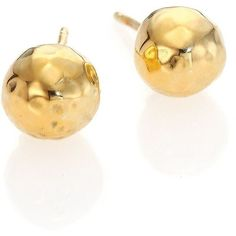 IPPOLITA Glamazon 18K Yellow Gold Stud Earrings (26.640 RUB) ❤ liked on Polyvore featuring jewelry, earrings, apparel & accessories, gold, gold stud earrings, gold jewelry, post earrings, 18k yellow gold earrings and gold earrings