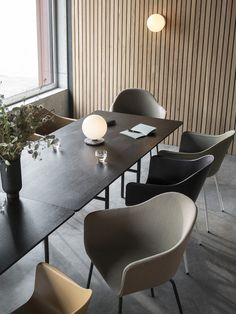 Snaregade Rectangular Table, 2018 by Norm Architects Lovely Nails lovely nails in dedham Side Chairs, Dining Chairs, Dining Table, Table Lamp, Office Interior Design, Office Interiors, Conference Table, Conference Room Design, Conference Room Chairs