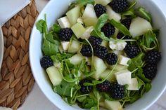 salada de melão e amoras - gluten free