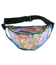 Perfect for ya festival fiends! The No Shame Bum Bag is made from CLEAR holographic PU - Get it in time for the FESTIVAL season and stash all ya goodies in it! DEETS: - Clear, Holographic PU - Two Zip Openings - Adjustable Waist Strap - One Size Fits All - 30cm Wide This is a PRE ORDER style, due for delivery late July, early August 2016