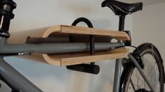 Space-Saving Bike rack solutions. For KT & Murray: More on website Oblong Bike Shelf Equipped with U-Lock
