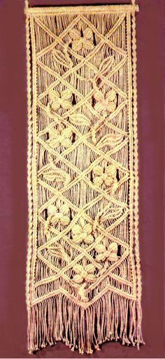 macrame wall hanging tutorial More