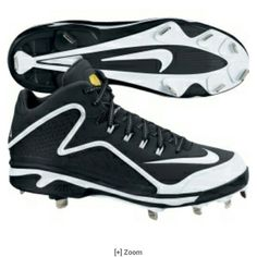 cb32339b423 Knock the cover off the ball in the Swingman MVP NIKE SWINGMAN MVP 2 MID -  STYLE 616258 TPU plate outsole with six full-length forefoot cleats and 3  shorter ...