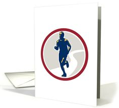 Personalize any greeting card for no additional cost! Cards are shipped the Next Business Day. Marathon Runners, Retro Fashion, Greeting Cards, Running, Sport, Racing, Deporte, Keep Running, Excercise