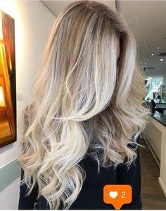 Ideas Hair Goals Blonde Balayage Haircolor For 2019 Cabelo Ombre Hair, Ash Blonde Balayage, Blonde Ombre Hair, Platinum Blonde Highlights, Full Highlights, Brunette Highlights, Blonde Curls, Gorgeous Hair, Beautiful