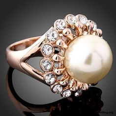 white pearl engagement ring - My Engagement Ring