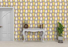Lemon Teasel wallpaper - Premium Wallpaper  173gsm Spray the wall / 62.5cm roll width / Start from right