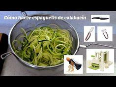 Desde La Cocina Alternativa ( http://www.lacocinaalternativa.com ) te enseñamos a hacer espaguetis de calabacín con 5 métodos: cuchillo, pelador clásico de v...