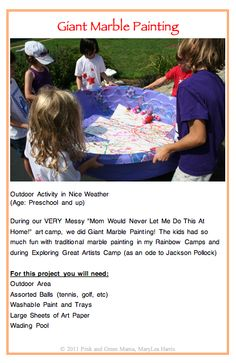 Marble painting with a baby pool, to make a huge Earth for Earth element
