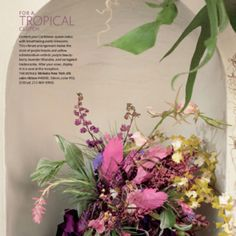 Martha Stewart: for a tropical clutch  Different from suggested but I'd be remiss not to post.