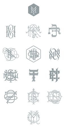 by9:    Types & Monograms
