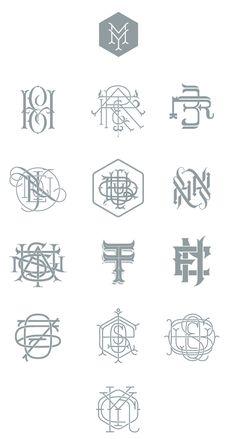Types Monograms by Jorge Mercado,