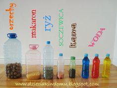 butelki sensoryczne dla małych dzieci,zabawa sensoryczna Sensory Play, Learning Activities, Kids Playing, Montessori, Diy And Crafts, Kindergarten, Water Bottle, Nursery, Ideas