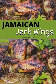Easy Jerk Chicken Recipe, Jerk Recipe, Easy Chicken Wing Recipes, Grilled Chicken Recipes, Jerk Chicken Crockpot, Nandos Chicken Recipe, Jerk Chicken Marinade, Grilled Jerk Chicken, Jerk Chicken Wings