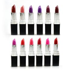 Women's Luxury 12 Colors Lipstick Grape Purple Dark Black Style Matte Masquerade Comestic