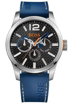 BOSS Orange - 1513250 - Montre Homme - Quartz - Analogique - Bracelet Silicone Bleu: Amazon.fr: Montres