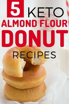 5 Guilt-Free Almond Flour Keto Donut Recipes Gone are the days when you have to say no to donuts because they're carb-laden. With these almond flour donut recipes, donuts finally have a place in your keto diet. Low Carb Donut, Low Carb Sweets, Low Carb Keto, Almond Flour Donut Recipe, Almond Flour Recipes, Almond Flour Desserts, Almond Flour Baking, Keto Desserts, Dessert Recipes