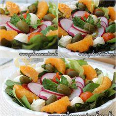 O #almoço é uma Salada de Folhas Verdes com Tangerina, prática, saborosa, nutritiva e muito, muito fácil de fazer!  #Receita aqui: http://www.gulosoesaudavel.com.br/2015/08/24/salada-folhas-verdes-tangerina/