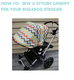 Sewing new canopy for Bugaboo stroller