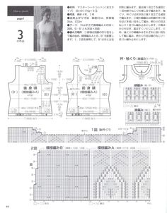 Let's knit series 7. Overview of pattern for sleeveless top no. 3.