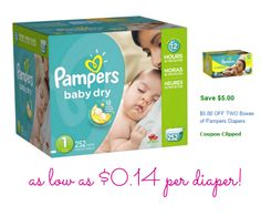 Pampers Coupons Online