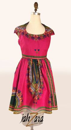 d17c92db9bb Rising Star Caped Sleeve Dashiki Dress in Fuchsia