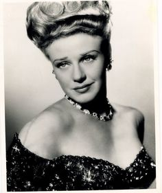 Ginger Rogers in Joseff Hollywood Jewelry