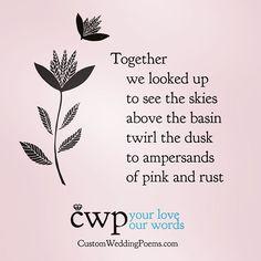 A little bit of the poem we wrote for an upcoming #autumnwedding. More at customweddingpoems.com #weddingideas #weddinginspiration #weddingplanning
