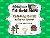 Goldilocks and the Three Bears retelling cards - free
