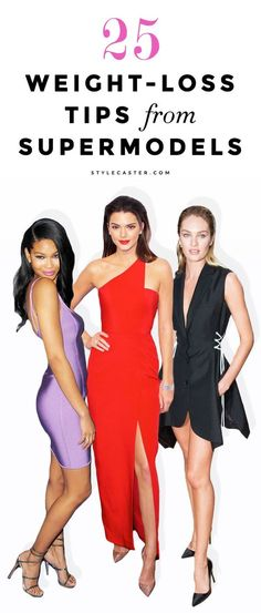 A List of 25 Weight-Loss Tips From Top Models like Gigi Hadid, Kendall Jenner, and Candice Swanepoel. Insanely good genetics may contribute to their long and lean bodies, but they've also gained a handful of tricks from expert fitness coaches and nutritionist. | Read about their diets, favorite workouts, and go-to healthy foods here. | @StyleCaster