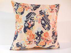 Etsy のJapanese Fabric Pillow | 014 | decorative pillow | 16x16 |,accent pillows,throw pillows,sofa pillows,couch pillows,throw,designer pillows(ショップ名:KyotoZakka)