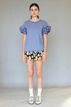 KAREN WALKER : flower short pants