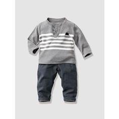Conjunto jersey + pantalón bebé niño VERTBAUDET