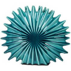 Urban Trends Collection Blue Ceramic Seashell