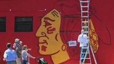 Blackhawks mural