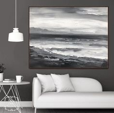 Abstract Ocean Painting, Sky Painting, Seascape Paintings, Large Painting, Texture Painting, Abstract Canvas, Oil Painting On Canvas, Painting Frames, Canvas Paintings