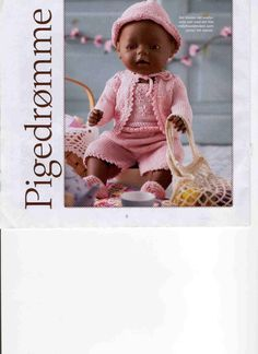 """Photo from album """"Одежда для Baby Born on Yandex. Knitting Dolls Clothes, Doll Clothes Patterns, Doll Patterns, Knitting Patterns, Ag Dolls, Reborn Dolls, Girl Dolls, Baby Born Clothes, Pattern Books"""