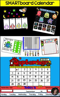Smartboard Calendar and Common Core Activities for the whole year Editable, Kindergarten, First Grade, Second Grade